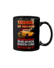 TOW TRUCK DRIVER OFFENSIVE LANGUAGE Mug tile