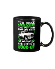 TOW TRUCK DRIVER NEED A HOOK-UP Mug tile