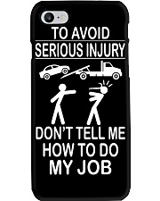 TOW TRUCK OPERATOR AVOID SERIOUS INJURY Phone Case thumbnail