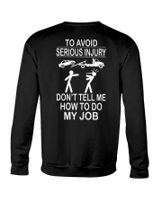 TOW TRUCK OPERATOR AVOID SERIOUS INJURY Crewneck Sweatshirt tile