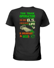 TOW TRUCK OPERATOR BREAKFAST AND SEX FLATBED Ladies T-Shirt thumbnail