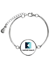 I support Equality  Metallic Circle Bracelet thumbnail