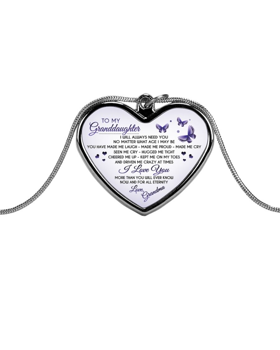 I wish you The Strength to Face Challenges Metallic Heart Necklace