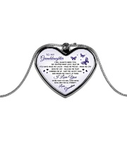 I wish you The Strength to Face Challenges Metallic Heart Necklace front