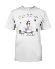 Stay Out Of My Bubble Unicorn T shirt Classic T-Shirt tile
