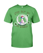 Stay Out Of My Bubble Unicorn T shirt Premium Fit Mens Tee front