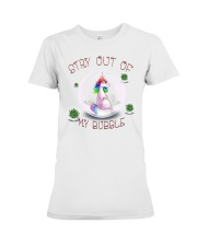 Stay Out Of My Bubble Unicorn T shirt Premium Fit Ladies Tee tile