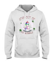 Stay Out Of My Bubble Unicorn T shirt Hooded Sweatshirt tile