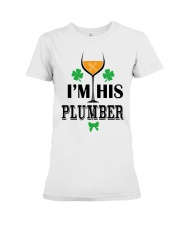 I am his Plumber Premium Fit Ladies Tee tile
