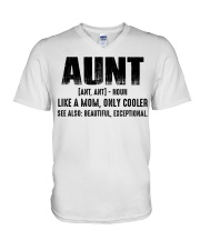 Aunt Tshirt V-Neck T-Shirt tile