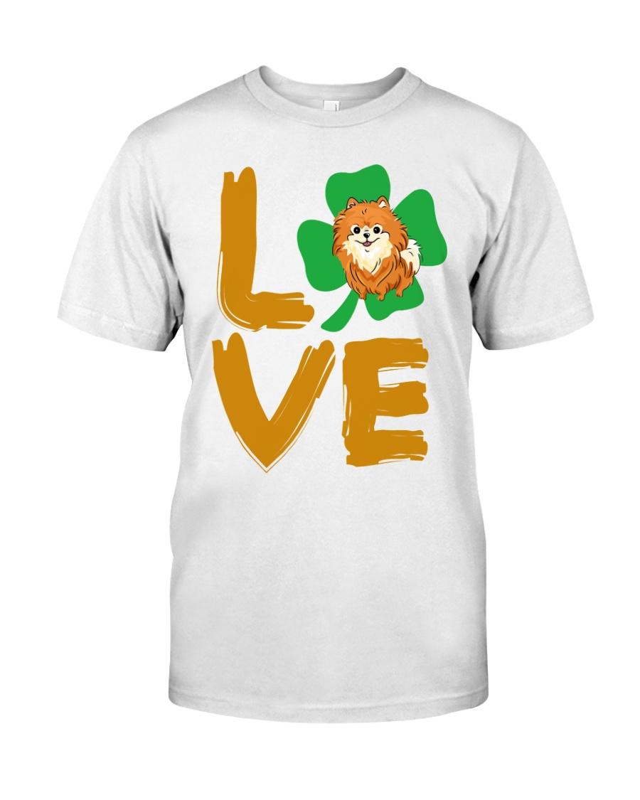 Happy Pomeranian StPatricks day Classic T-Shirt