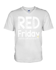 red shirt friday V-Neck T-Shirt thumbnail