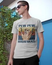 Golden Retriever Pew Pew Madafakas Classic T-Shirt apparel-classic-tshirt-lifestyle-17