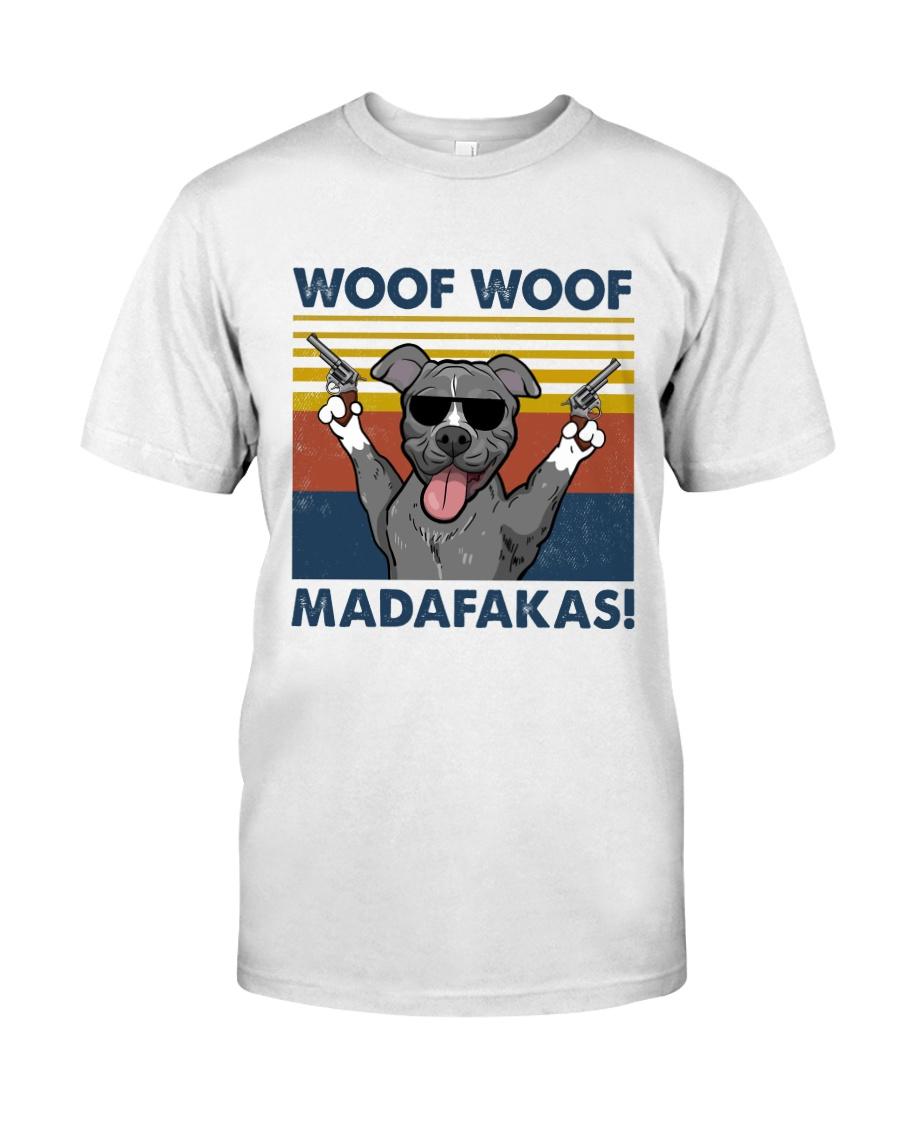 Pitbull Woof Woof Madafakas Vintage Classic T-Shirt