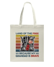 Memorial Day Because My Grandad Is Brave Tote Bag thumbnail