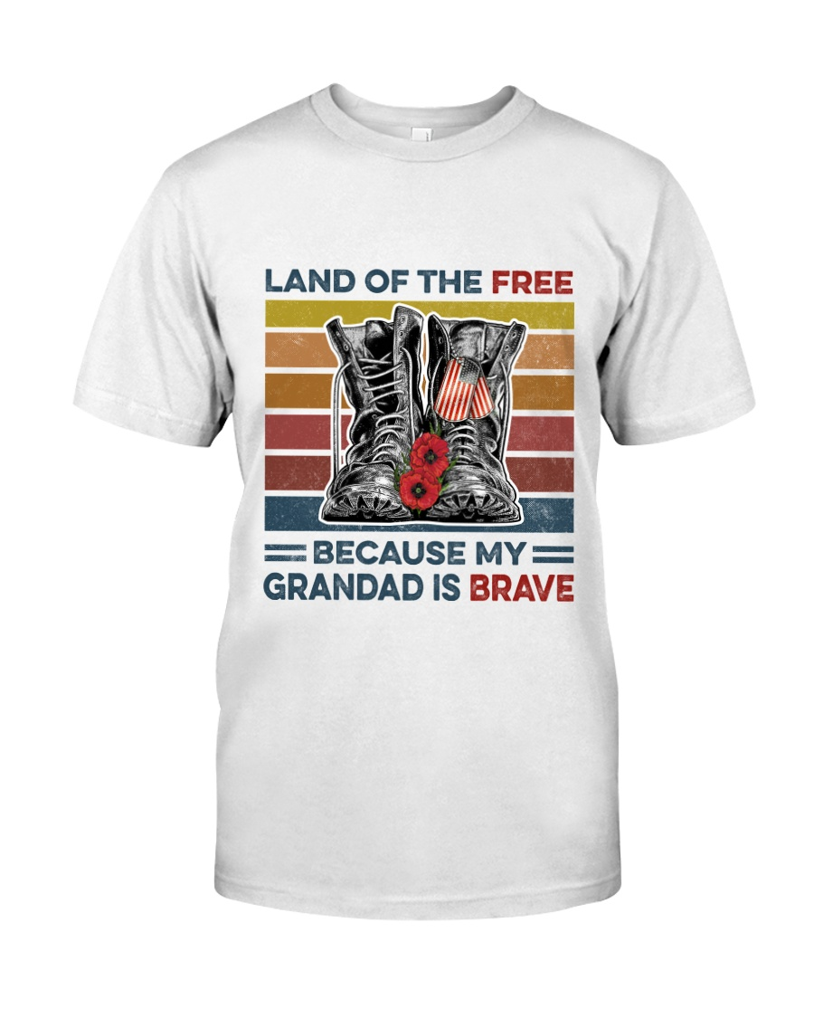 Memorial Day Because My Grandad Is Brave Classic T-Shirt