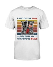 Memorial Day Because My Grandad Is Brave Classic T-Shirt front