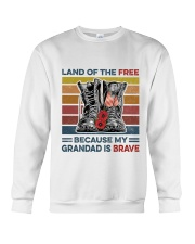 Memorial Day Because My Grandad Is Brave Crewneck Sweatshirt thumbnail