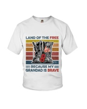 Memorial Day Because My Grandad Is Brave Youth T-Shirt thumbnail