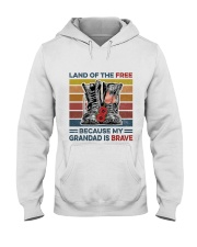 Memorial Day Because My Grandad Is Brave Hooded Sweatshirt thumbnail