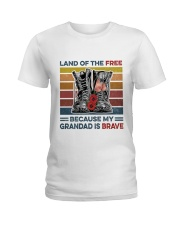Memorial Day Because My Grandad Is Brave Ladies T-Shirt thumbnail