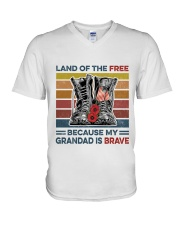 Memorial Day Because My Grandad Is Brave V-Neck T-Shirt thumbnail