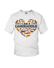 Canoeing - I Am A Canoe Aholic Youth T-Shirt thumbnail