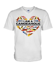 Canoeing - I Am A Canoe Aholic V-Neck T-Shirt thumbnail