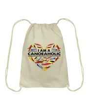 Canoeing - I Am A Canoe Aholic Drawstring Bag thumbnail