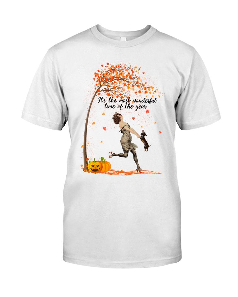 Dachshund Dancing Fall Classic T-Shirt