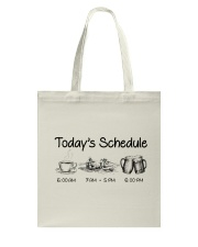 Canoeing - Today's Schedule Tote Bag thumbnail