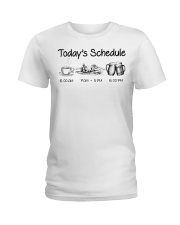 Canoeing - Today's Schedule Ladies T-Shirt thumbnail