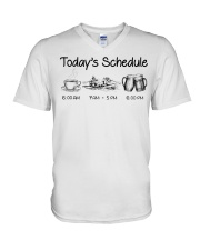 Canoeing - Today's Schedule V-Neck T-Shirt thumbnail