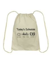 Canoeing - Today's Schedule Drawstring Bag thumbnail