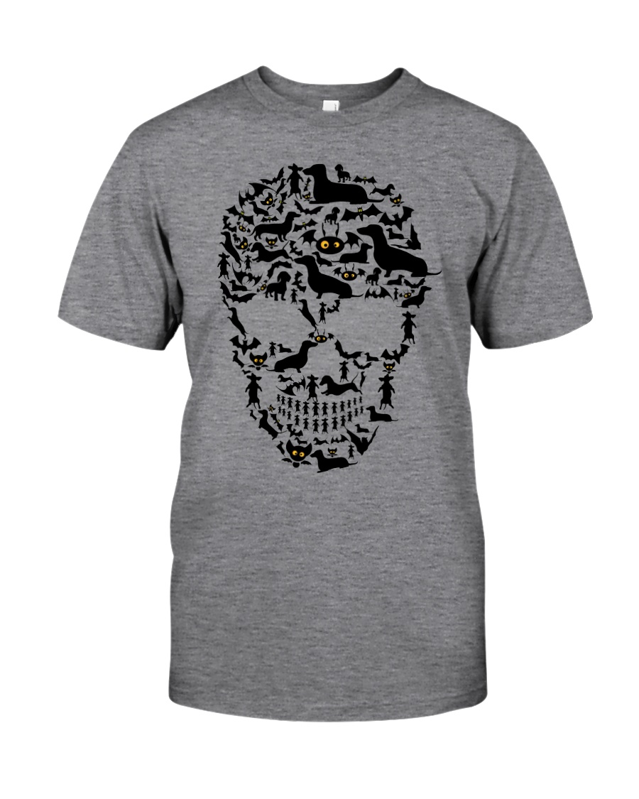 Dachshund - Skull Classic T-Shirt