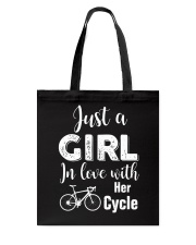 Cycle - ust A Girl In Love With Her Cycle Tote Bag thumbnail