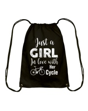 Cycle - ust A Girl In Love With Her Cycle Drawstring Bag thumbnail