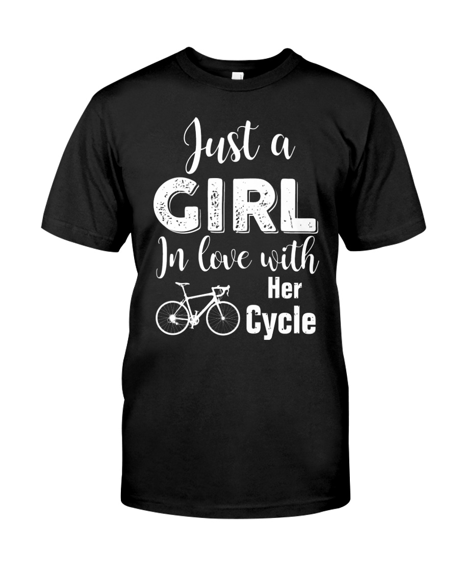 Cycle - ust A Girl In Love With Her Cycle Classic T-Shirt