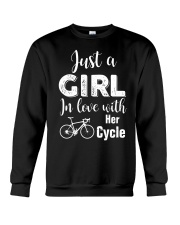 Cycle - ust A Girl In Love With Her Cycle Crewneck Sweatshirt thumbnail