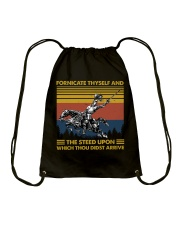 Temp Fornicate Thyself Drawstring Bag thumbnail