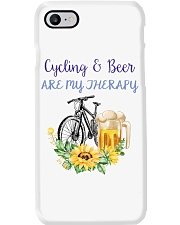 Cycle - Cycling And Beer Are My Therapy Phone Case tile
