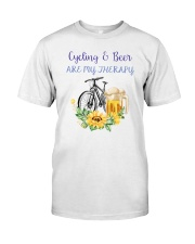 Cycle - Cycling And Beer Are My Therapy Classic T-Shirt tile