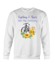 Cycle - Cycling And Beer Are My Therapy Crewneck Sweatshirt thumbnail