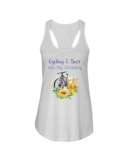 Cycle - Cycling And Beer Are My Therapy Ladies Flowy Tank tile