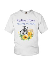 Cycle - Cycling And Beer Are My Therapy Youth T-Shirt thumbnail
