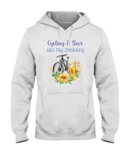 Cycle - Cycling And Beer Are My Therapy Hooded Sweatshirt tile