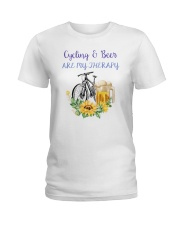 Cycle - Cycling And Beer Are My Therapy Ladies T-Shirt tile