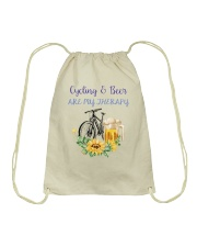 Cycle - Cycling And Beer Are My Therapy Drawstring Bag tile