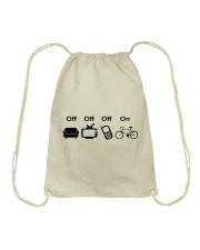 Cycle - Off - On Drawstring Bag thumbnail
