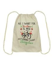 Cycle - Merry Christmas - All I Want Drawstring Bag thumbnail